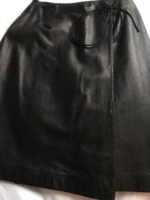Lederrock THIERRY MUGLER Schwarz Größe 38