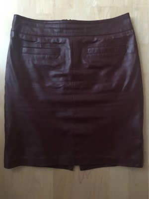 Ashley Brooke Leather Skirt bordeaux