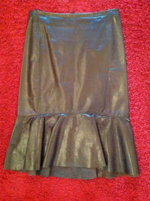 Blacky Dress Leather Skirt dark brown leather