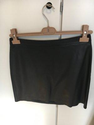 Drykorn Falda de cuero negro