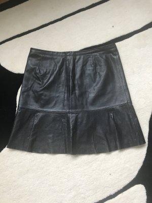 Hugo Boss Leather Skirt black