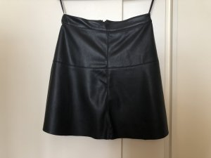 Vila Leather Skirt black