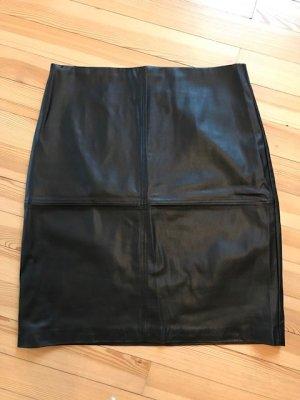 Lawrence Grey Leren rok zwart Polyester