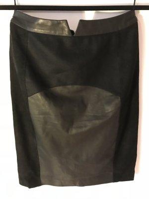 Porsche Design Falda de cuero negro