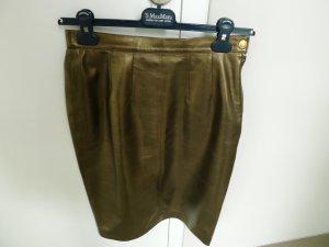Rena Lange Leather Skirt bronze-colored