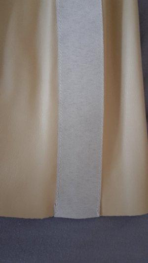 Zara Basic Falda de cuero crema-nude