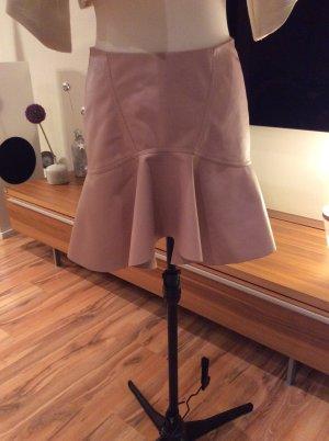 Lederrock von Zara in zartem rosa