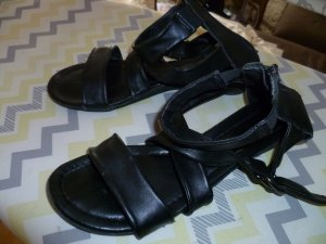 Bonaparte Strapped High-Heeled Sandals black leather