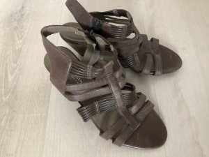 Sixth Sense Roman Sandals light brown leather