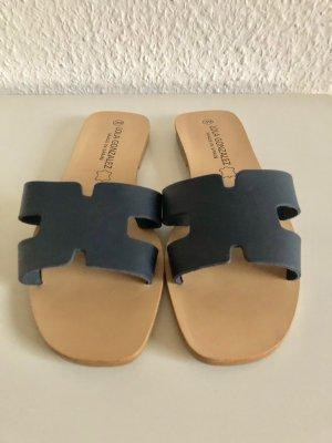 Sandales confort bleu foncé cuir