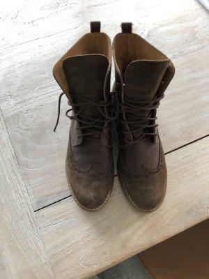 Lederschnürschuhe, 3 x getragen, Größe 41, braun