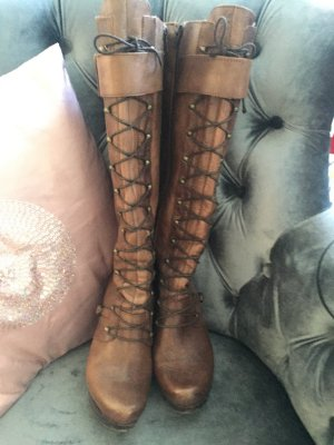 Lace-up Boots bronze-colored