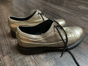 Serafini Wingtip Shoes gold-colored