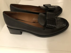 Zara Patent Leather Ballerinas black leather