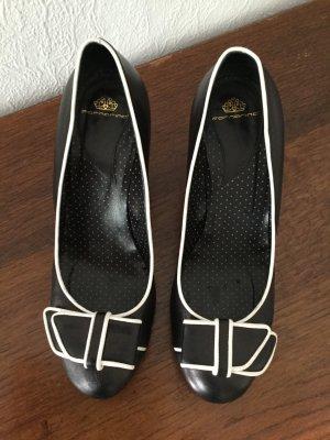 Lederschuhe Fornarina weiß schwarz
