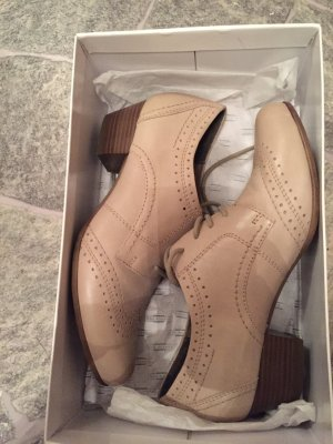 5th Avenue Zapatos brogue beige-nude