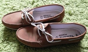 Tamaris Sailing Shoes brown-sand brown leather