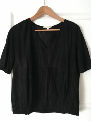 Ledershirt Blouson von Maje Gr 36 schwarz