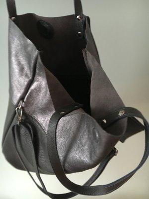 Vera Pelle Pouch Bag dark grey leather