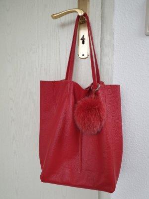 Shopper rood Leer