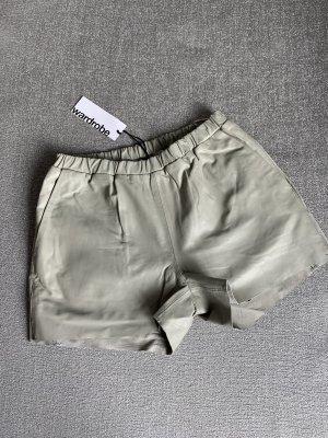 Shorts gris claro Cuero