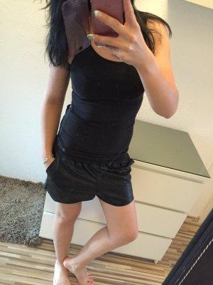 Ledershorts Shorts kurze Hose Bermuda High Waist Leder