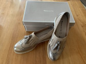 Tamaris Slip-on Shoes sand brown-gold-colored leather