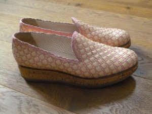 Pertini Slip-on Shoes light pink-sand brown leather