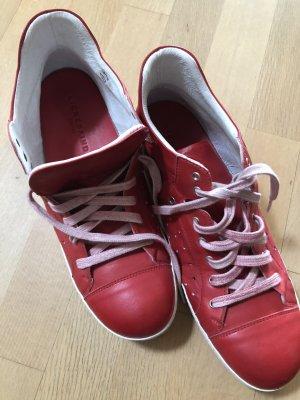 Ledersneaker in tollem rot