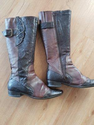 Botas estilo militar marrón-marrón oscuro