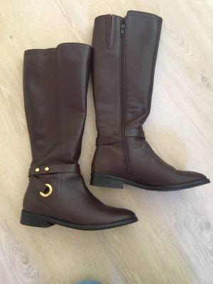 Anna Field Botas de equitación marrón oscuro Cuero
