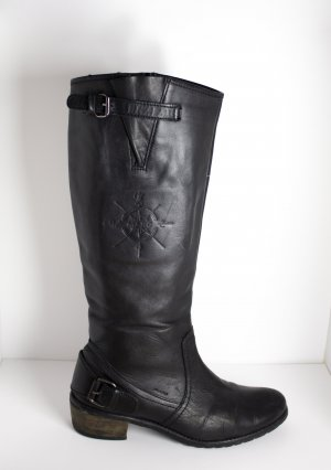 Botas estilo vaquero negro Cuero