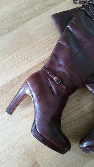Bronx Laarzen met hak bruin-roodbruin