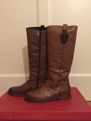 Botas de equitación coñac-marrón