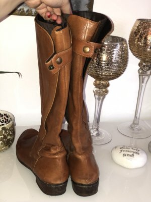 Stretch Boots cognac-coloured-brown