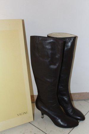 Vicini Hoge laarzen donkerbruin Leer