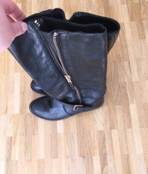 Jackboots black-sand brown leather