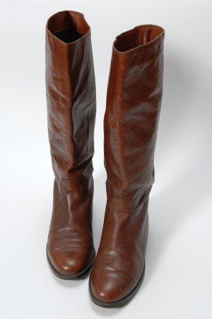 Jackboots cognac-coloured leather