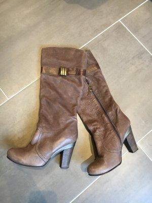 Hilfiger Denim Botas con tacón marrón claro-marrón grisáceo