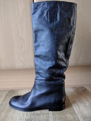Botas slouch negro Cuero