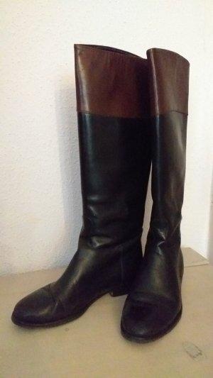Kallisté Botas estilo militar negro-marrón Cuero
