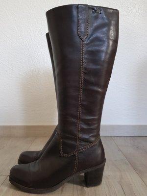 Caprice Heel Boots dark brown