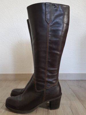 Caprice Heel Boots dark brown