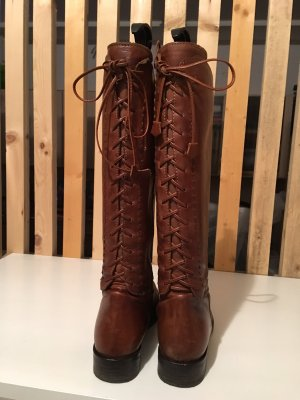 Riding Boots cognac-coloured