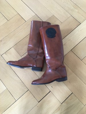 Riding Boots brown-black leather