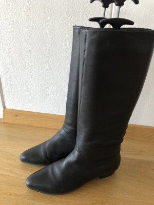 Lederstiefel schwarz, Gr.38