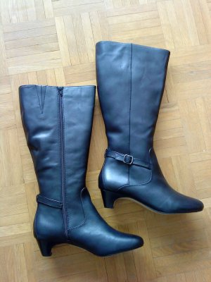Lands' End Wide Calf Boots black leather