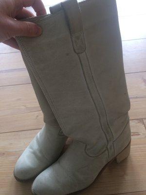 Lederstiefel Stiefel Winterstiefel creme Leder 40