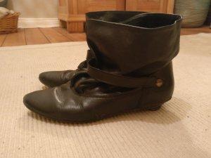Slappe laarzen zwart Leer