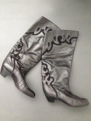 Lederstiefel Vintage Schwarz 80´s 90´s